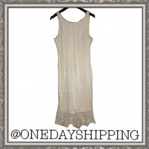 Ali and Jay Nordstrom White Lace Dress